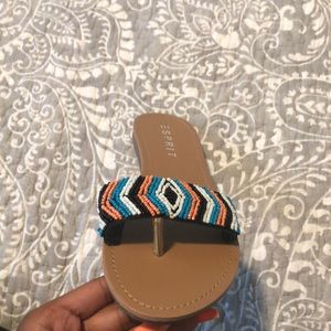 Esprit Shoes - multi-colored beaded flat sandals